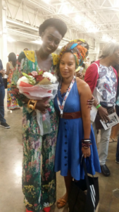 Ndeyfatou Ceesay Designer Noir Style Africa and Lena Grey Johnson organiser of Gambia Fashion Week